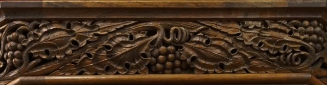 Carving on the pulpit at Holy Trinity