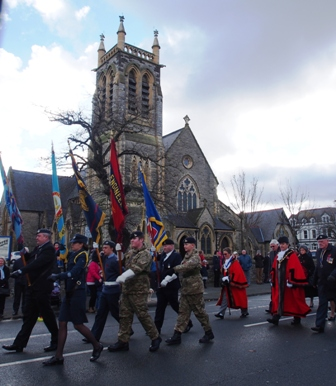 Remembrance Sunday parade.