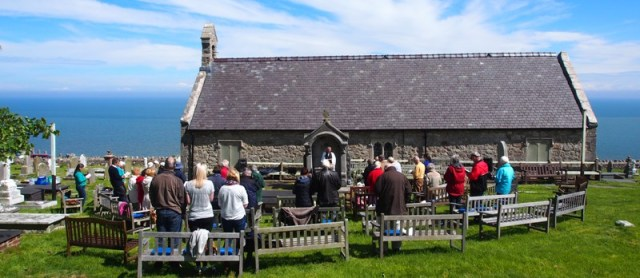 St Tudno's open air service