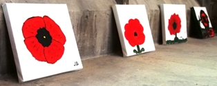 Poppy paintings.