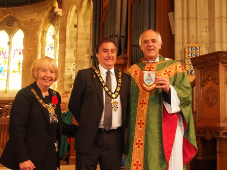 Presentation from mayor of Llandudno