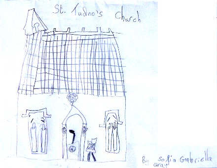 Drawing of St. Tudno's