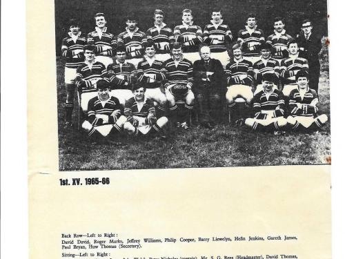 1st XV Rugby Team, 1965/66