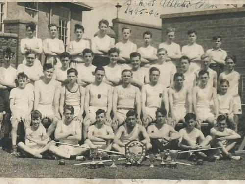 Athletic Team,1946,provided by Brian ( Mick ) Watts, seated extreme right of those sitting ( 2nd row )