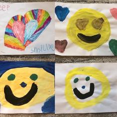 Children's drawings bring smiles to people shielding