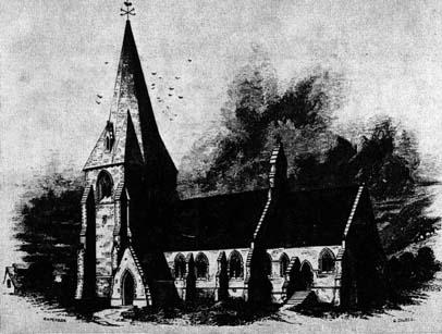 Llanrhystud Church following its rebuilding by Richard Kyrke Penson, 1851-54.