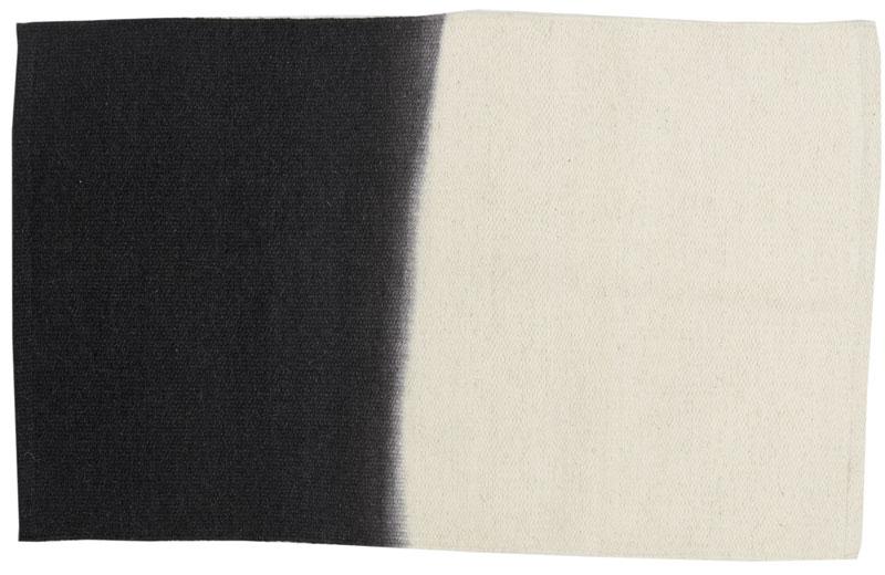grand tapis laine tie dye ecru charbon