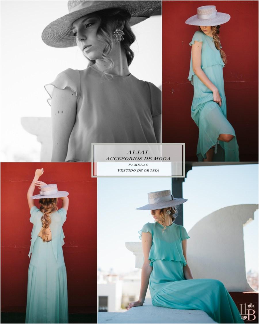 Pamelas de Alial con vestido Orosia. Post en Llega mi Boda