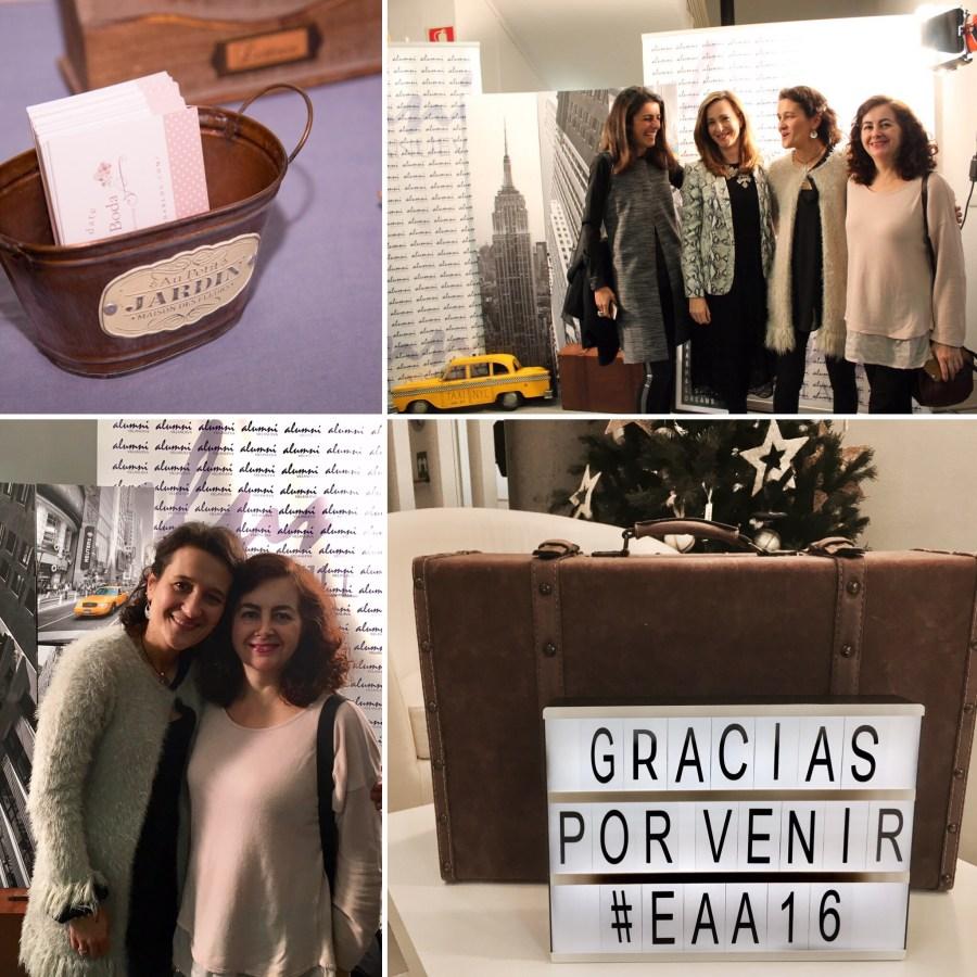 Foto de grupo: Begoña Ariño junto a María García Costoya (Alumni), Paloma Diaz Soloaga y Pilar Miguel (Master de Comunicación y Gestión de Moda)