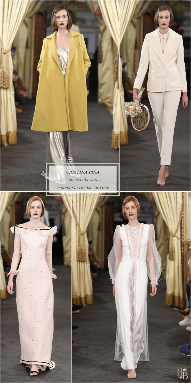 Desfile Atelier Couture 2017- Cristina Piña - Colección: I LOVE WES. Post en Llega mi Boda.