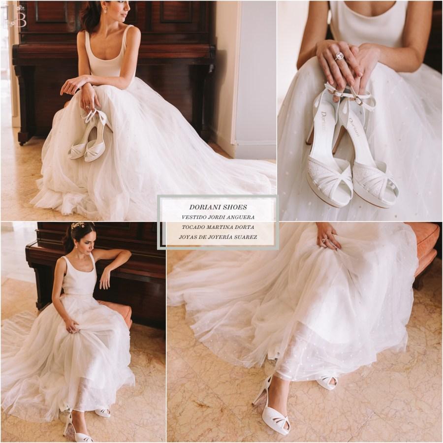 Intemporel, nueva colección Doriani Shoes con vestido de Jordi Anguera. Post Llega mi Boda