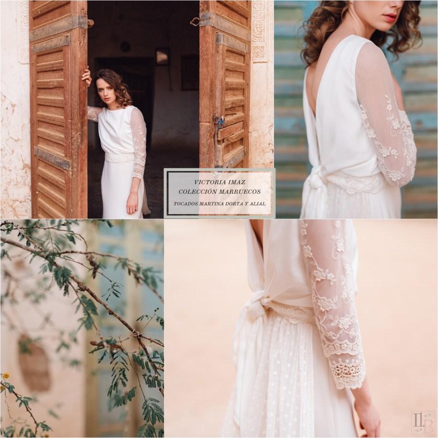 Marruecos, la nueva colección cápsula de Victoria Imaz. Post en Llega mi Boda. Tocados: Alial y Martina Dorta.