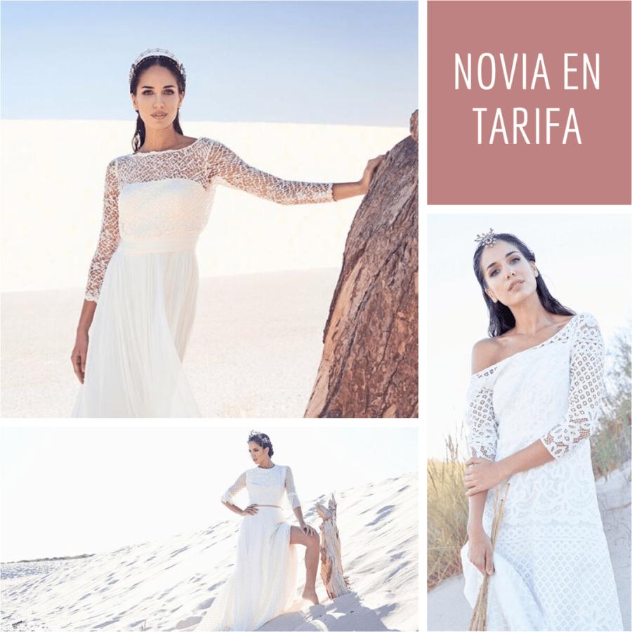 Una novia en Tarifa. Vestidos de novia de José María Peiró, María Baraza, Victoria Imaz. Tocados de Martina Dorta.