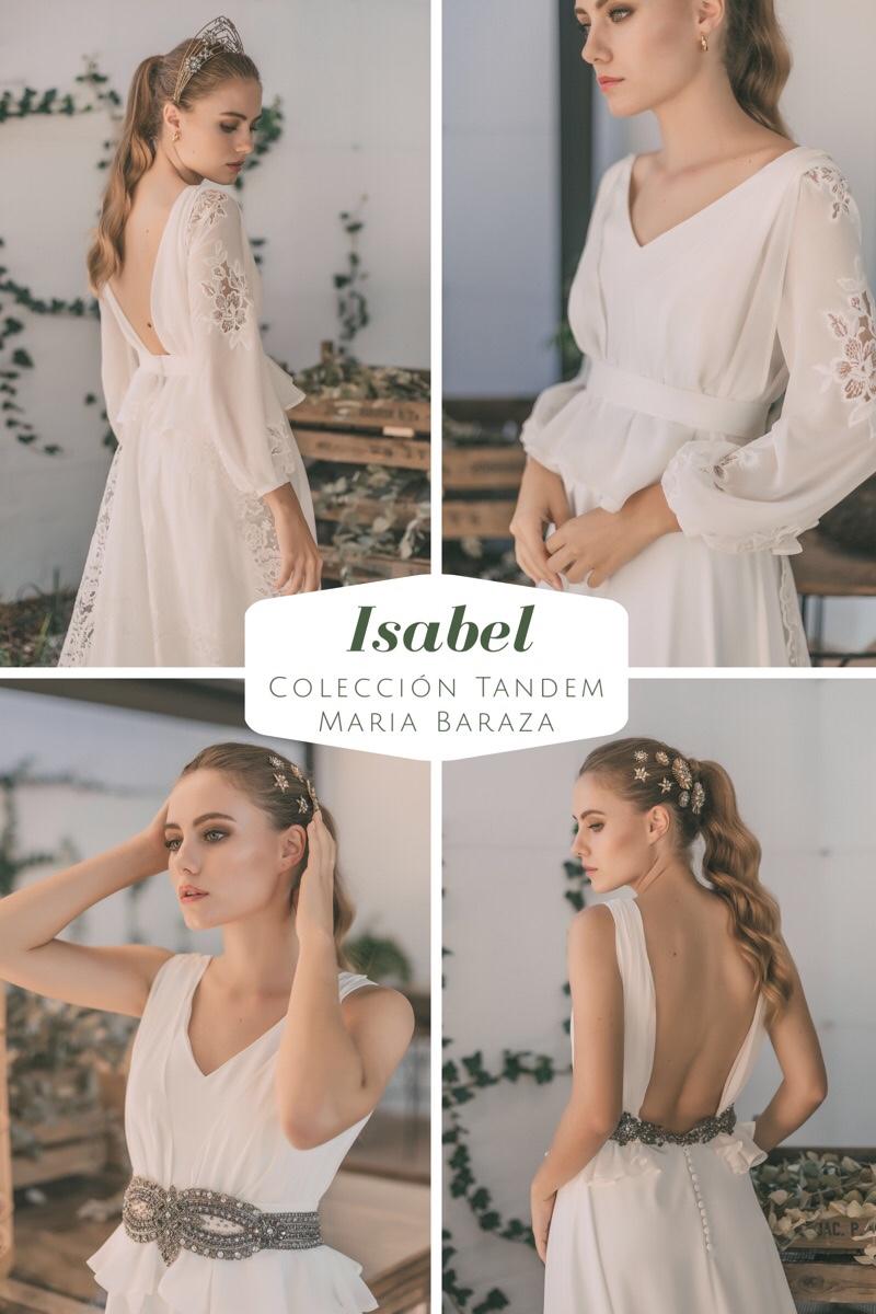 T Á N D E M, la nueva colección de María Baraza by llega mi boda. Isabel