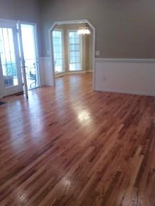 unfinished hardwood floor