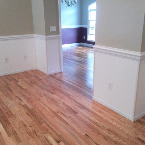 unfinished hardwood floor