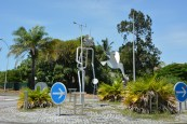 The roundabout to go to 'Pointe de roches'