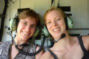 Iris and Lore in the helicopter