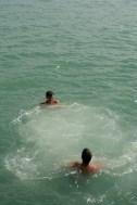 Swimming in the ocean!