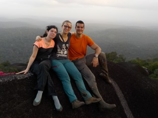 Irene, Lore and Leandro on top of the Inselberg - Team UA present!
