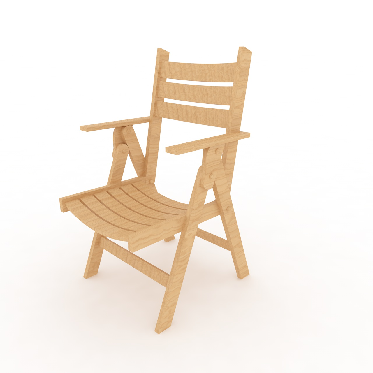 Folding Wood Beach Chair Wood Beach Chair 3d Model
