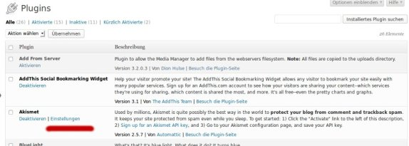Manage Plugins: Links zu WordPress-Plugins hinzufügen