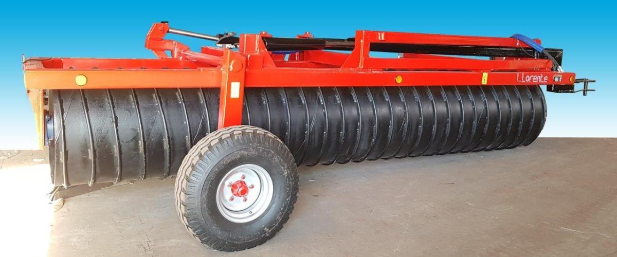 Rodillos agrícolas lineales hidraulico con tubo y estría en forma de aros