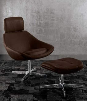 Giorgio Luna collection recliner chair and ottoman