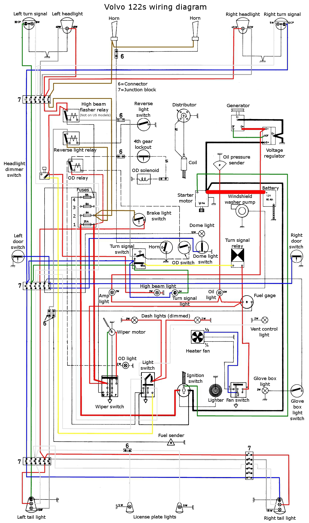 volvo truck wiring diagrams diagram for 2 gang 1 way light switch c 10 1970 headlight get free image about