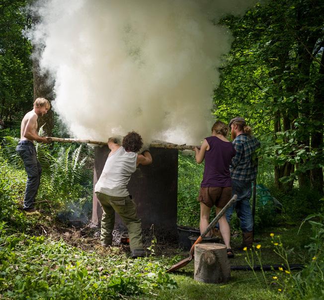 charcoal kiln group