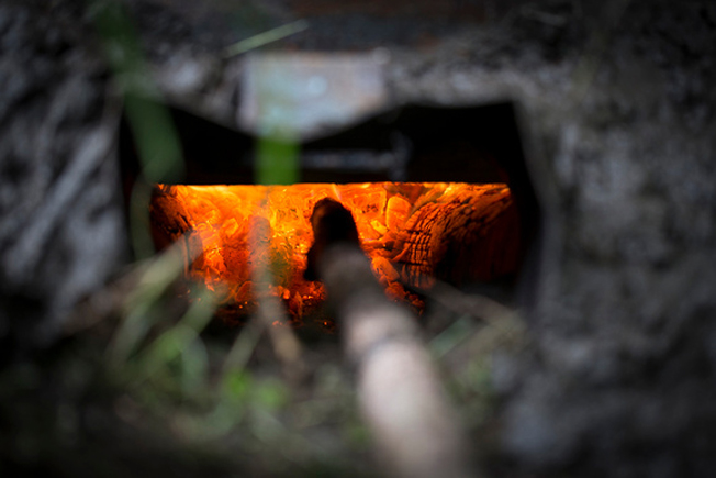 charcoal kiln vent
