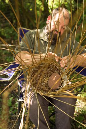 Tim basket making