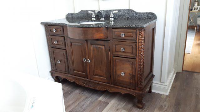 antique wooden vanity lloyd s refinishing