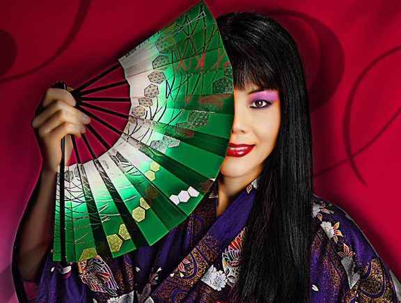 oriental themed pinup portrait Photography south Florida