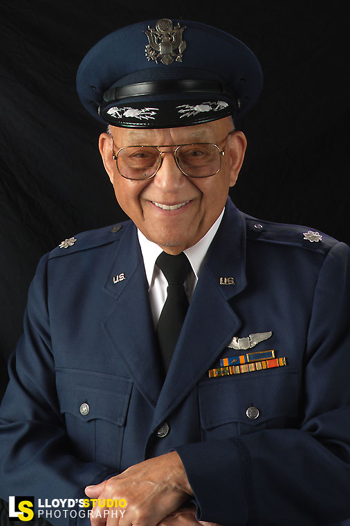 Military Portraits - military promotion portrait - United States Air Force - Lt. Col. Robert Friend, Tuskegee Airmen Pilot