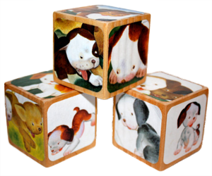 The Poky Little Puppy Childrens Wooden Book Blocks