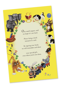 Little Golden Book Shower - Book Card Insert