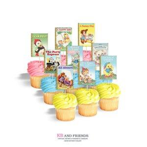 Little Golden Book Baby Shower Cupcakes