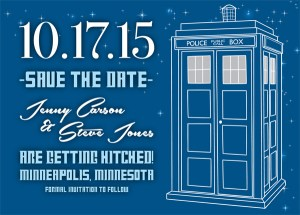 Tardis Save the Date