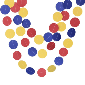 Red Blue Yellow party decorations
