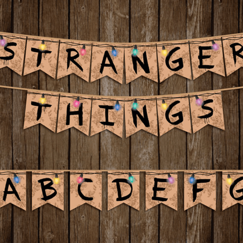 Stranger Things Party Banner
