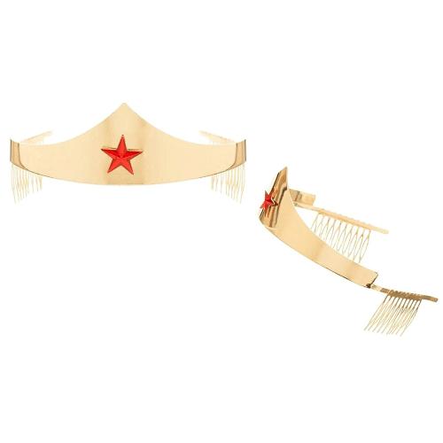 DC Comics Wonder Woman Golden Tiara with Red Gem Star