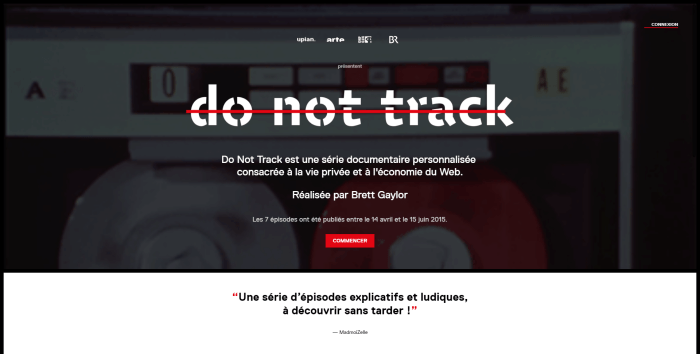 Webdocumentaire Do not Track