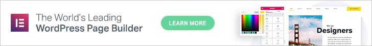 Elementor Page Builder Banner
