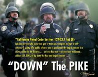 Lt Pike and the California Penal Code on using tear gas