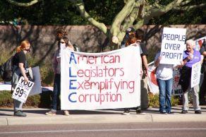 Protest against ALEC in Scottsdale AZ on Nov 30 2011 photo 24