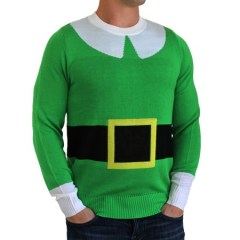 Green elf suit with fake belt