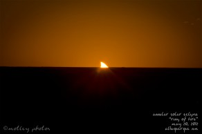 Annular Solar Eclipse_Ring of Fire_05 20 2012_ABQ NM_Setting sun with the eclipse still occurring 01