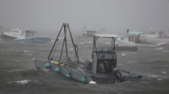 Boats float in Plymouth Harbor during Hurricane Sandy on Monday October 29, 2012. (Greg M. Cooper/US PRESSWIRE)