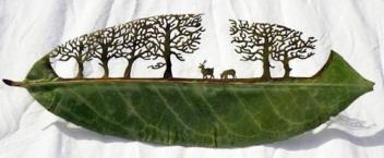 Spanish artist Lorenzo Duran leaf carving